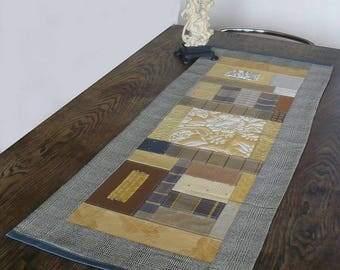 Yellow table runner and Brown floral Center