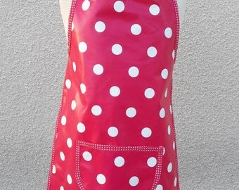 KID'S APRON PINK DOTS FROM 2 TO 8 YEARS