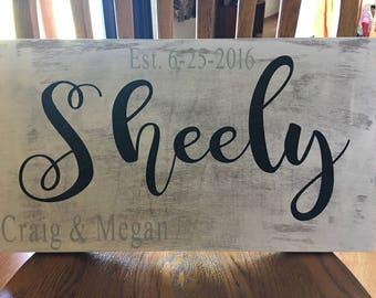 Wedding date name board