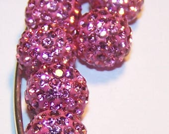 Pink shamballa beads 10mm making