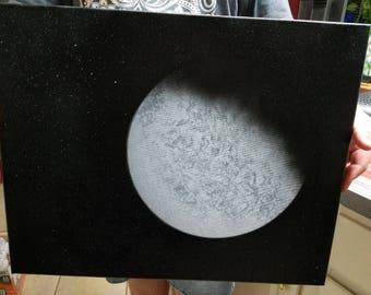 Moon Spray Painting