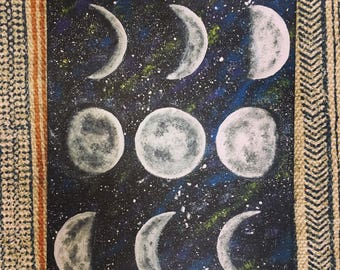 Moon Phases Painting