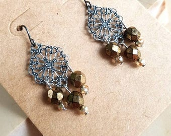 Delicate little medallion earrings