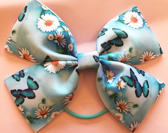 Blue butterfly medium bow