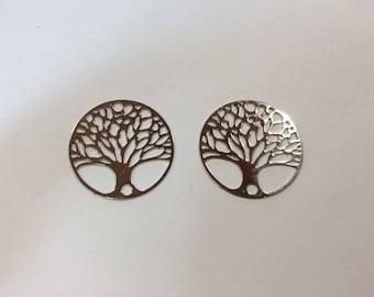 prints 10 spacer tree of life 20mm rhodium plated jewelry headband