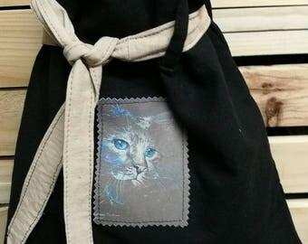 Tote Bag in linen and cotton shoulder bag