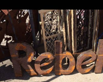 Recycled Metal ~  Handcrafted Rebel Wall Decor