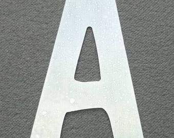 Zinc letter model DOM CASUAL; all letters available