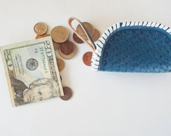 Blue Coin Purse - Taco Purse