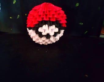 Pokeball pokemon origami 3d