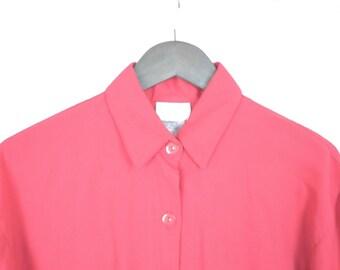 Beautiful Red Vintage Bobbie Brooks Button up Shirt