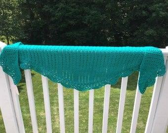 Sweet evening crocheted wrap