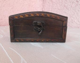 Wooden box, Vintage handmade box, Jewelry  box, Box for memories, Gift idea, Vintage box, Handmade box, Wooden box,Аccessory box,Ladies gift