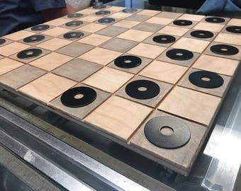 Custom chess/checker board