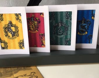 Harry Potter Hogwarts Set of 4 Notelets or Greeting Cards