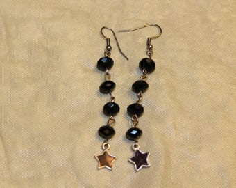 Beaded Star Dangly Earrings