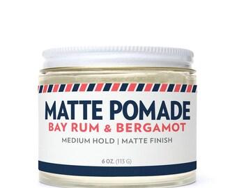 6 oz. Matte Pomade - Bay Rum & Bergamot