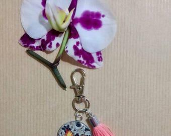 Keychain cabochon resin epoxy Butterfly charm