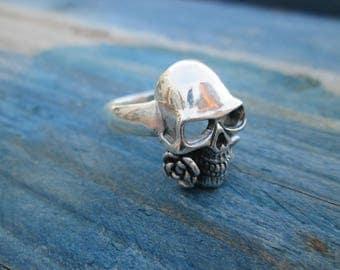 Ring of Silver's Bill skull pink A-009