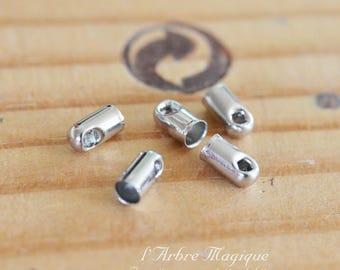 caps cords silver 2.4 mm x 10