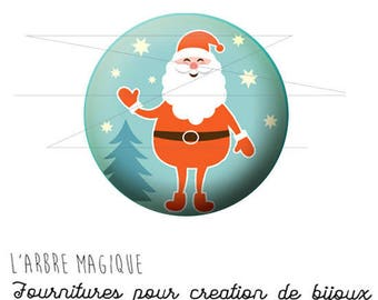 Cabochon 25 mm fancy Noël Père ref 1477