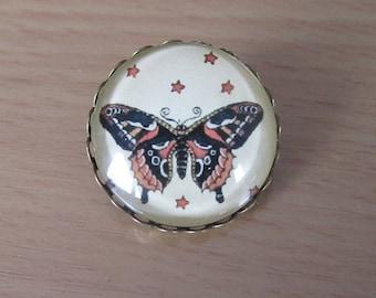 vintage Butterfly brooch, 25mm