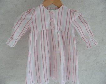 Pajama girl pink satin and white 3-4 years