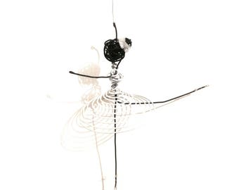 Dancer in white wire