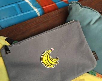 Zipped Banana Patch Clutch