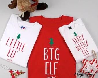 Family Elf Shirts, Matching Family Christmas Pajamas Shirts, Matching Family Christmas Outfits, Christmas Raglan Shirt, Elf Shirt