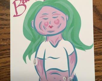 """Dia-Beautiful 5""""x7"""" Art Print"""