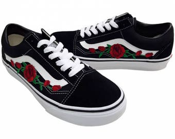vans met rozen