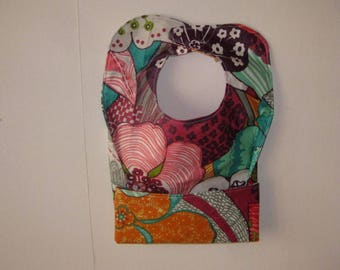 Tank girl 6 months 3 multicolored floral coated cotton bib