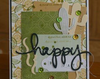 Vibrant mixed birthday card