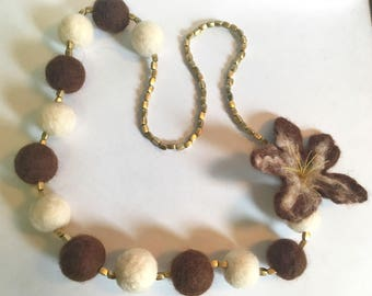 Felt Necklace - Made from Natural Georgian Felt