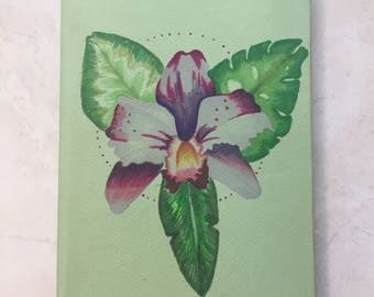 Hardcover Orchid Flower Notebook