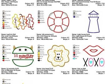 10 Designs Applique Machine Embroidery SET 6