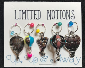 Up, Up & Away - Balloon Stitch Marker Set