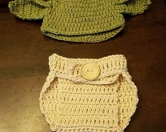 Baby Yoda inspired photo shoot outfit