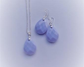 set drop purple (925 silver plated)