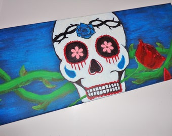 Day of The Dead Sugar Skull Painting