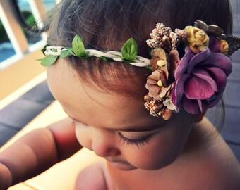 Flower Crown Tie-Back Headband
