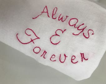Always & Forever Embroidered T-Shirt