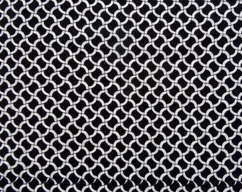 cotton fabric by the yard collection black and white brick