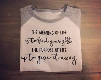 Meaning of Life Toddler Baseball Tee