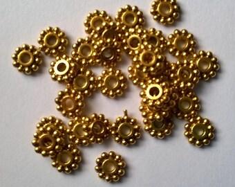 Set of 60 Gold spacer rondelles