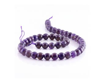 Amethyst - 6/8 / 10mm - 10 or 100 to choose pearls - pearls gems Semi-precieuses