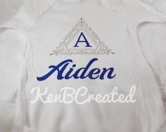 Personalized Monogram Baby Onesie