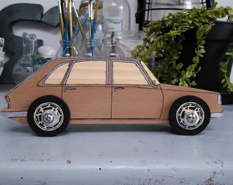Child room classic car model in wood