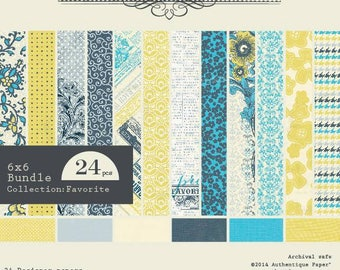 Block 24 authentic Favorite 15 x 15 paper sheets